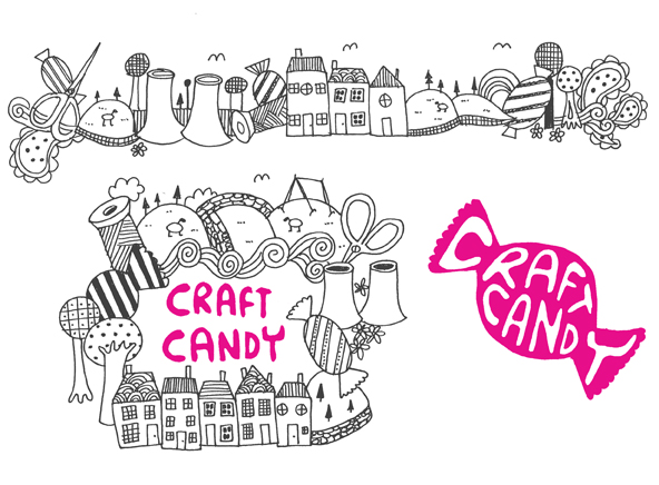 I have just done a new logo and a few other bits for 'Craft Candy' a craft